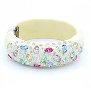 Weiss clamper bracelet in multi colored crystals